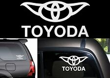 "8"" White TOYODA Yoda Vinyl Decal Sticker For Toyota Vehicles New Free Shipping"