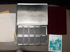 Vintage Zippo Collector's Tin  Red velvet display, 10 black cases, guide NEW