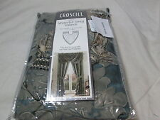 "NEW Croscill CHAMADE Waterfall Swag Window Valance 46""x33"" ~ Chambray NIP"