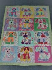 Handmade Puppy Dog baby quilt