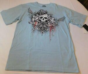 Marc Ecko Big Boy's Short Sleeve T Shirt Size Variations 44364059-46 Battle Blue
