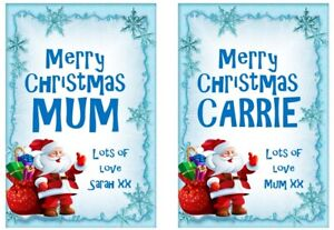Personalised Christmas Bottle Label For ANY Alcohol Wine Fun Secret Santa Gift