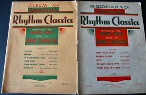 EDDIE CARROLL RHYTHM CLASSICS 1/2 2 PIANO SHEET MUSIC BOOKS 1937/39 JAZZ ENGLAND