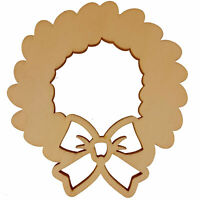 Unfinished Wooden Word Christmas Ornament Shape Cutout DIY Craft 5.2 Inches