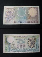 BANCONOTA LIRE 500 MERCURIO BELLA COME DA FOTO