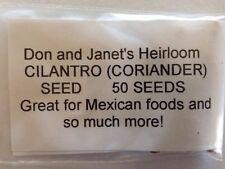 Cilantro/Coriander Heirloom, Organically Grown, Mexican Cuisine & More! 50+Seeds