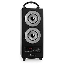 TRAGBARES BLUETOOTH LAUTSPRECHER MP3 SOUND SYSTEM UKW MW RADIO USB SD AUX AKKU