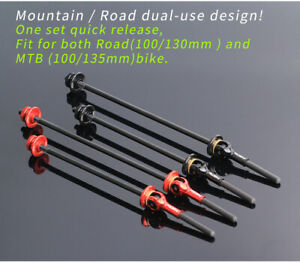 Road MTB Bike Bicycle Quick Release Lever Titanium shaft Skewer Titanium Shaft