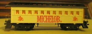 TYCO MICHELOB PASSENGER CAR HO SCALE EXCELLENT CONDITION