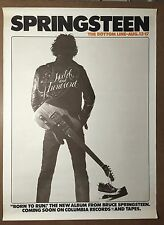 Bruce Springsteen Born To Run Original Rare1975 Bottom Line Promotional Poster
