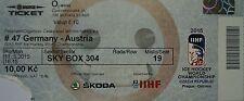 TICKET SKY BOX Hockey su ghiaccio WM 11.5.2015 Germania-Austria a Praga