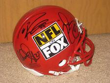 2013-14' RICHARD SHERMAN RUSSELL WILSON AUTOGRAPHED NFL ON FOX SEAHAWKS HELMET