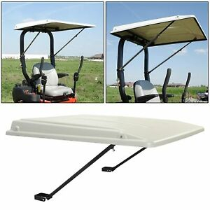 Paintable Tractor Cab Top Canopy For John Deere Ztrak Mowers ROPS -White 30382