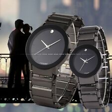 SINOBI 2 PCS Watch For Couple Lovers Men's Lady Women Black Quartz Wrist Watch