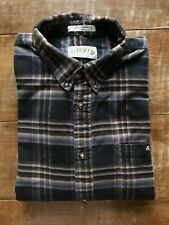 Orvis Shirt Brown Black and Blue Check