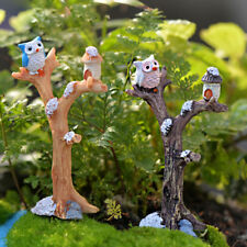 Doll house Miniature Mini Branches Owl Micro Landscape DIY Decor PT*