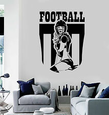 Vinyl Wall Decal Football Girl Sports Teen Room Decoration Stickers (ig3779)