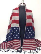 Americana woven Blanket Wrap Scarf Shawl Stole Soft Pashmina Unisex NEW