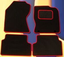FORD FOCUS 04 - 11 & ST2 & ST3 CAR MATS BLACK CARPET WITH RED EDGE + CLIPS B