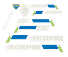 SCAPIN Atec decal set sticker for complete bicycle - silk screen - free shipping