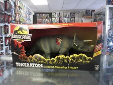 Jurassic Park Series I Triceratops with Head Ramming Attack Kenner Damaged Box