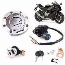 Ignition Switch Fuel Gas Cap Cover Seat LocK Key Set For Yamaha YZF 92-13 R1 R6