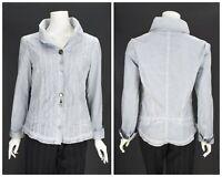 Womens Bottega by Elisa Cavaletti Blouse Shirt Blue Cotton Button Size XL