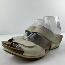 FLAW Dansko Vienna Oyster Milled Women 39 US 8.5 - 9 Leather Sandals Shoes