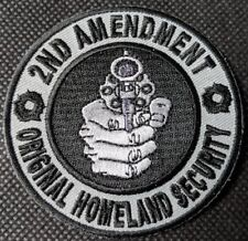 2nd Amendment Original Homeland Security Embroidered Biker Patch