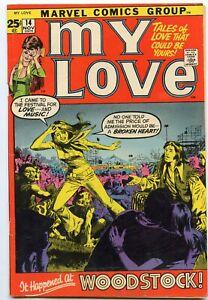 My Love 14 - WOODSTOCK Cover RARE in nice shape Marvel Romance