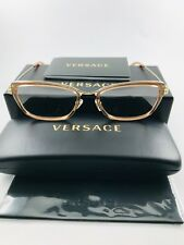 94c49c0895 New Authentic VERSACE Eyeglasses 1243 1401 peach brown gold 52-17-140 NWT