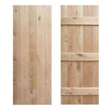 Solid Rustic Oak 3 Ledged Cottage Barn Door V Groove Joint