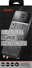 Rocketfish - 8-Outlet Surge Protector - Black