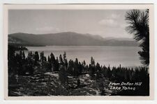 RARE Lake Tahoe Dollar Hill CALIFORNIA RPPC RP Real Photo Postcard POINT Nevada