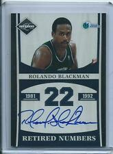 Rolando Blackman 2011-12 Limited *Retired Numbers Autograph* NBA 49/99