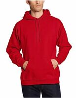 Hanes Men's Pullover Ultimate Heavyweight Fleece Hoodie,, Deep Red, Size X-Large