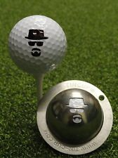 1 only TIN CUP GOLF BALL MARKER -INCOGNITO, The  Man in the Hat