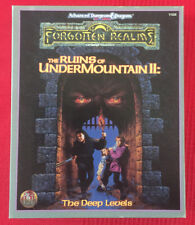 THE RUINS OF UNDERMOUNTAIN II: THE DEEP LEVELS - COMPLETE & VG - AD&D  TSR #1104