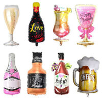 Champagne Cup Beer Bottle Balloons Aluminium Foil Balloon Helium Balloons Party