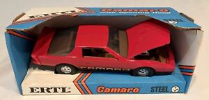NEW Vintage ERTL Chevrolet Camaro Red w Brown Interior 1980s 1:16 USA MADE Steel
