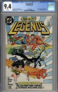 Legends #6 CGC 9.4 NM 1st Appearance of the New Justice League WHITE PAGES