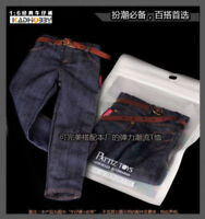 1/6 Scale S06 Male Classic Jeans Denim Pants For 12'' Muscular Figure Body Model