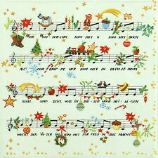 4x Paper Napkins -Christmas Song- for Party, Decoupage Craft