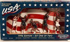 "1996 USA BASKETBALL DREAM TEAM STARTING LINEUP BOTH SETS SHAQ MALONE ROBINSON 6"""