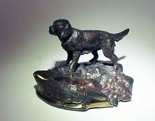Antique Usa Metal Spaniel English Setter Philadelphia shield 8 K Co. Hunting dog