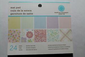 Martha Stewart pastel mat pad - 24 sheets