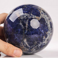 1381g 98mm Large Natural Sodalite Quartz Crystal Sphere Healing Ball Chakra