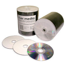 100x RIVER CD-R80 Premium White Top Diamond Dye Rimage Printable Full Face
