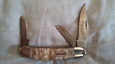 SMITH & WESSON TEXAS HOLD'EM PEARL SOW BELLY KNIFE - NOS