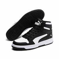 Puma Unisex Rebound LayUp Mid SL Schuhe Sneaker Mid Cut 369573 Schwarz Weiß